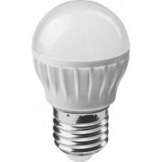 Лампа светодиодная LED 6вт E27 белый матовый шар