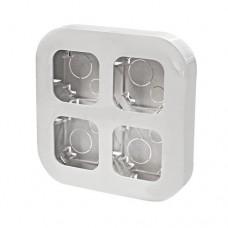 Бокс монтажный на 4 устройства IP20 Legrand Quteo, накладной, цвет белый