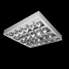 Светильник накладной зеркальный растровый ЛПО 21 4х18 RF Т8